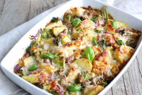 bake baked basil broccoli