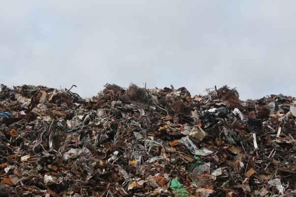 scrap metal trash litter scrapyard